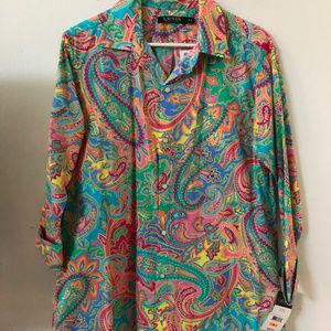 Ralph Lauren Paisley Shirt Dress